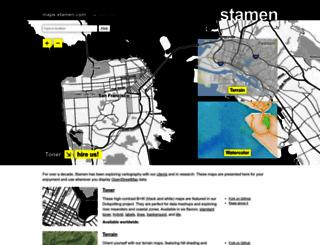 maps.stamen.com screenshot