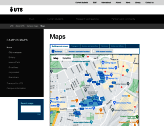 maps.uts.edu.au screenshot