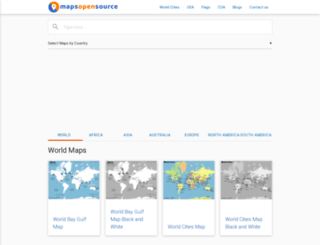 mapsopensource.com screenshot