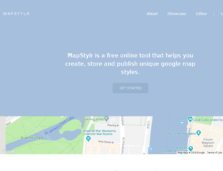 mapstylr.com screenshot