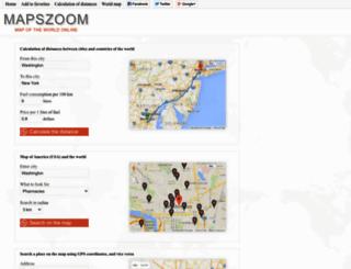 mapszoom.com screenshot