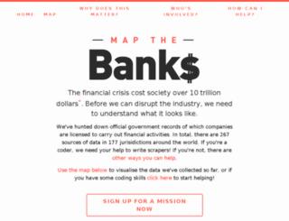 mapthebanks.com screenshot