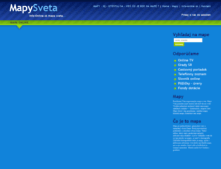 mapy.info-online.sk screenshot