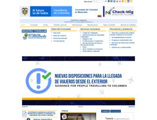 maracaibo.consulado.gov.co screenshot
