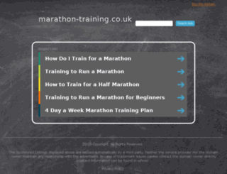 marathon-training.co.uk screenshot