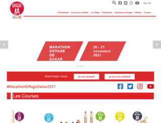marathondakar.eiffage.com screenshot