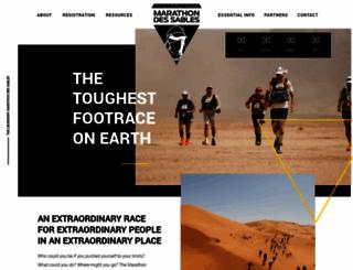 marathondessables.co.uk screenshot