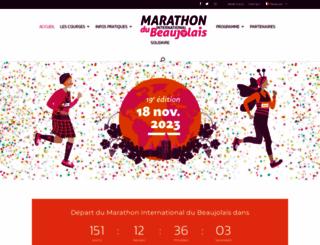 marathondubeaujolais.org screenshot