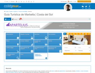 marbella.costasur.com screenshot