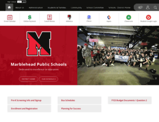 marbleheadschools.org screenshot