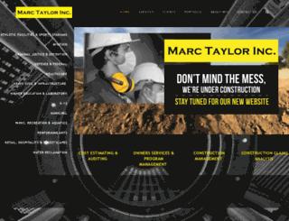 marc-taylor.com screenshot