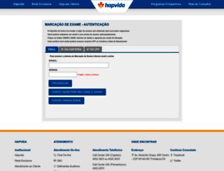 marcacaoexame.hapvida.com.br screenshot