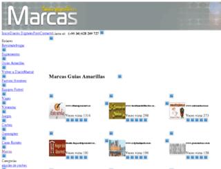 marcas.guiasamarillas.es screenshot