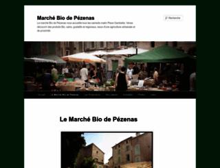 marchebiopezenas.wordpress.com screenshot