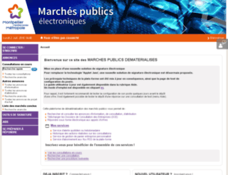 marches.montpellier-agglo.com screenshot