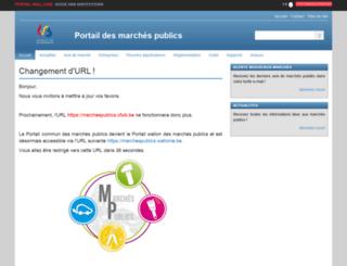 marchespublics.cfwb.be screenshot