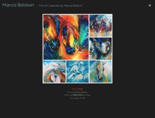marciabaldwin.artspan.com screenshot