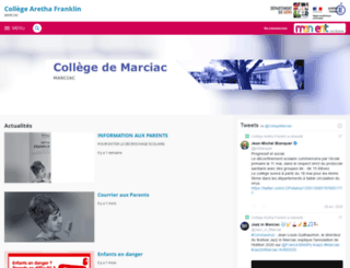 marciac.entmip.fr screenshot