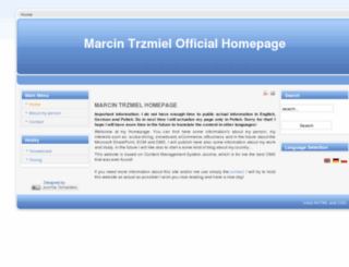 marcintrzmiel.com screenshot