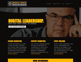 marco-janck.de screenshot