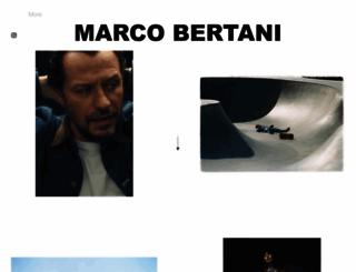 marcobertani.com screenshot