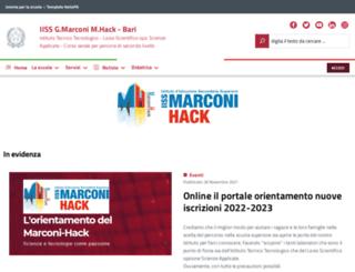 marconibari.it screenshot