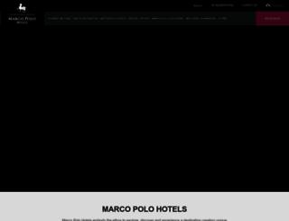 marcopolohotels.com screenshot