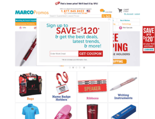 marcopromotionalproducts.com screenshot
