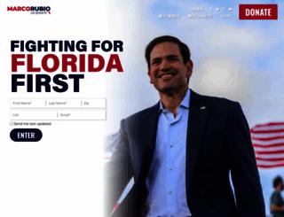 marcorubio.com screenshot