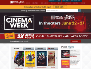 marcustheaters.com screenshot