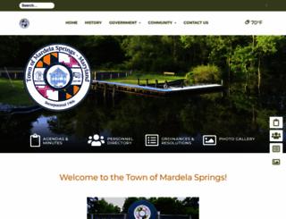 mardelasprings.org screenshot
