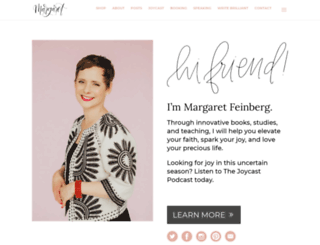 margaretfeinberg.com screenshot