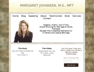 margaretjohansen.com screenshot