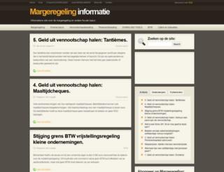 margeregeling.be screenshot