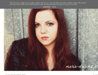 maria-dreamz.blogspot.se screenshot