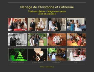 mariage-christophe-catherine.photos screenshot