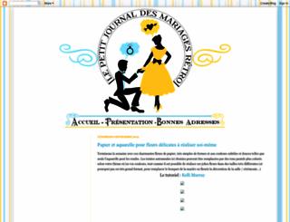 mariages-retro.blogspot.fr screenshot