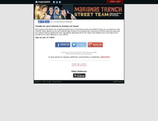 marianastrench.fancorps.com screenshot
