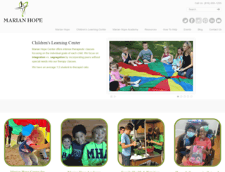 marianhopecenter.com screenshot