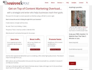 mariannekpost.com screenshot