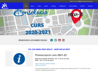 mariarosamolas.org screenshot