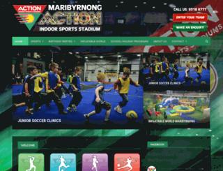 maribyrnong.actionindoorsports.com.au screenshot