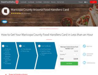 maricopa.statefoodsafety.com screenshot