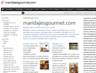 maridajesgourmet.com screenshot