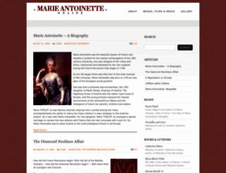 marie-antoinette.org screenshot