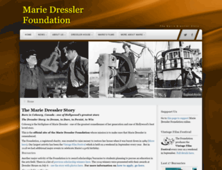mariedressler.ca screenshot