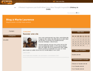 marielaurence.ivoire-blog.com screenshot