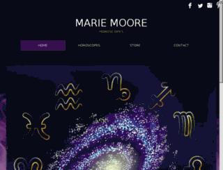 mariemoorehoroscopes.com screenshot