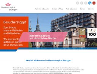 marienhospital-stuttgart.de screenshot