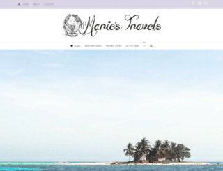mariestravels.com screenshot